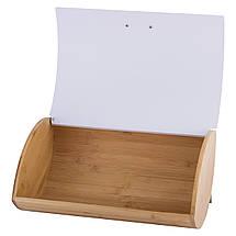 Хлебница Kamille 35,5см Белый с ёмкостями для хранения 10,5см. 3шт KM-1118WH, фото 2