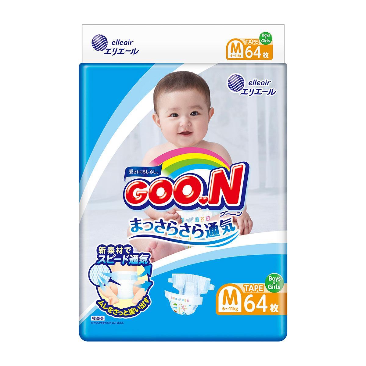 Подгузники Goo.N для детей 6-11 кг