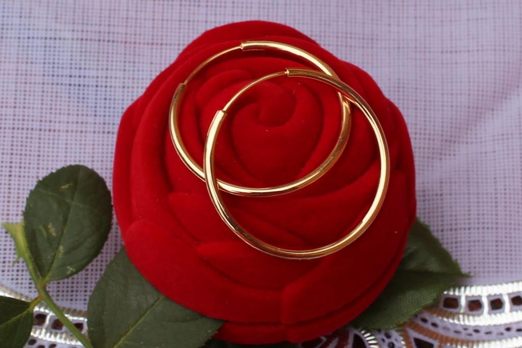 Серьги-кольца 4 см