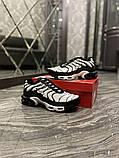 Чоловічі кросівки Nike Air Max TN White Black, фото 3