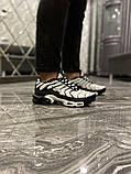 Чоловічі кросівки Nike Air Max TN White Black, фото 4