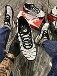 Чоловічі кросівки Nike Air Max TN White Black, фото 8