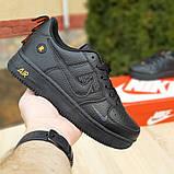 Чоловічі кросівки Nike Air Force 1 LV8 чорні з помаранчевим, фото 2