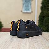 Чоловічі кросівки Nike Air Force 1 LV8 чорні з помаранчевим, фото 4