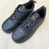 Чоловічі кросівки Nike Air Force 1 LV8 чорні з помаранчевим, фото 5