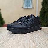 Чоловічі кросівки Nike Air Force 1 LV8 чорні з помаранчевим, фото 7