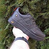 Чоловічі кросівки Nike Air Force 1 LV8 чорні з помаранчевим, фото 8