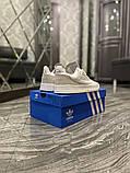 Чоловічі кросівки Adidas Brand With The 3 Stripes White Grey, фото 2