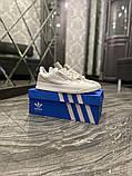 Чоловічі кросівки Adidas Brand With The 3 Stripes White Grey, фото 3