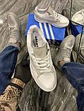 Чоловічі кросівки Adidas Brand With The 3 Stripes White Grey, фото 6