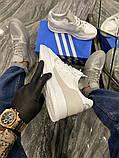 Чоловічі кросівки Adidas Brand With The 3 Stripes White Grey, фото 7