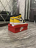 Чоловічі кросівки Nike Air Jordan 1 Mid Yellow Black, фото 2