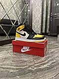 Чоловічі кросівки Nike Air Jordan 1 Mid Yellow Black, фото 5