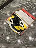 Чоловічі кросівки Nike Air Jordan 1 Mid Yellow Black, фото 8