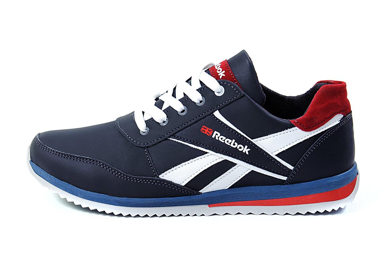 Чоловічі шкіряні кросівки Anser Reebok NS blue .