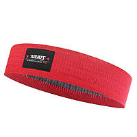 Резинка для фитнеса и спорта Aolikes тканевая красная, фото 1