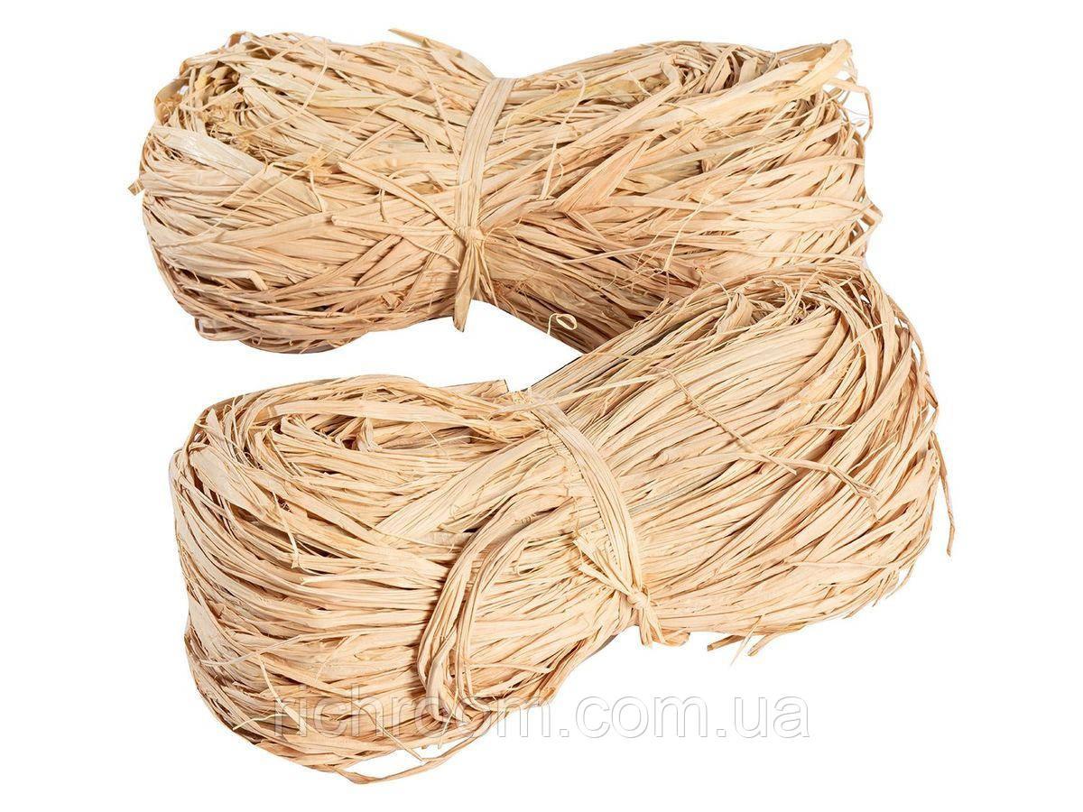 F1-00082, Натуральное рапсовое волокно, моток из соломы, набор для декора, Florabest, 2 шт х 100 г,