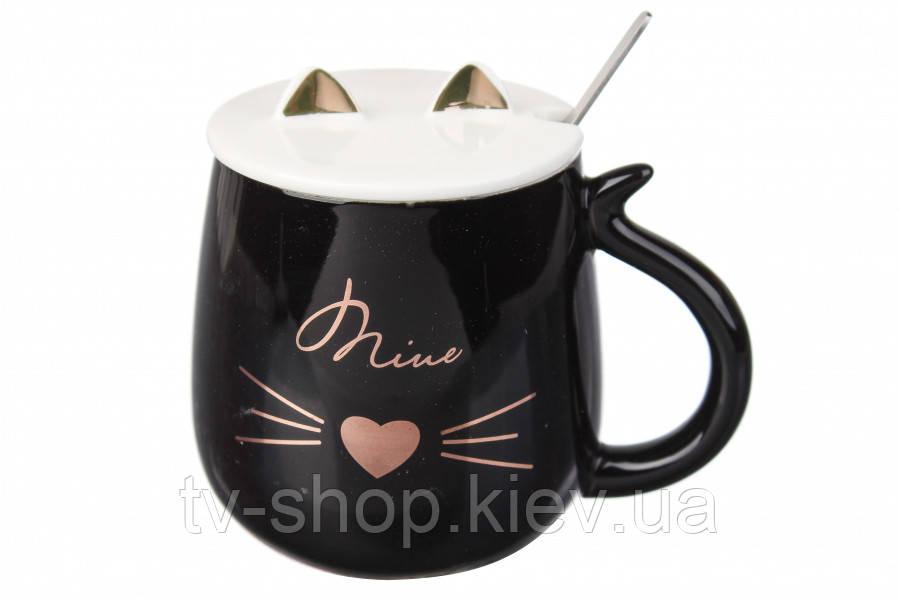 Чашка  с крышкой Кот ,400 мл