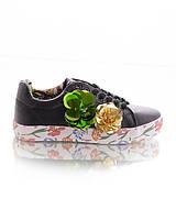 Кроссовки с цветами из пайеток, фото 1