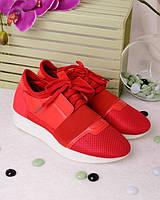 Женские красные кроссовки, фото 1