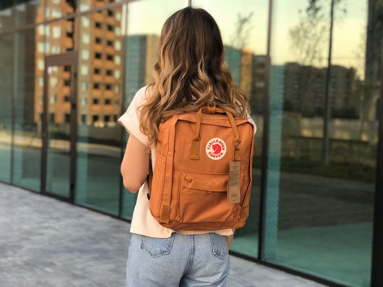 Рыжий рюкзак Fjallraven Kanken