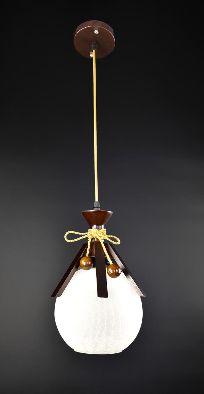 Люстра потолочная подвесная на 1 лампочку 9150/1 Коричневый 50х20х20 см.