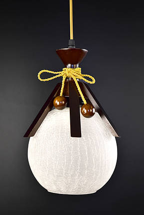 Люстра потолочная подвесная на 1 лампочку 9150/1 Коричневый 50х20х20 см., фото 2