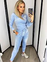 Женский мягкий велюровый костюм плюшевый Разные цвета, фото 1
