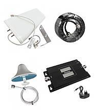 Репитер усилитель Lintratek KW17L-GD GSM и 4G сигнала 900 и 1800 МГц (комплект 10 дБи)