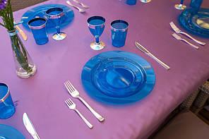 Тарілки склопластик Capital For People сині 6 шт (DD-11)