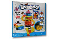 Конструктор липучка Bunchems 500 mega pack, вязкие пушистые шарики Банчемс, мягкие шарики липучки! Скидка