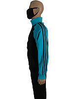 Костюм спортивный мужской адидас,adidas,реплика ,три полосы, черный,трикотажный 44-46-48. Турция.