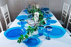 Тарілки склопластик Capital For People сині 260 мм 6 шт (DD-10)