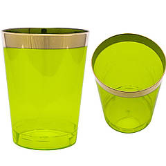 Стакани склопластик Capital For People зелені з золотом 220 мл 6 шт (DD-04)