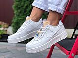 Женские кроссовки Nike Air Force белые, фото 4