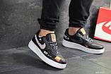 Чоловічі кросівки Nike Air Force 1 Just Do It чорні з білим, фото 2