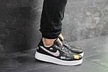 Чоловічі кросівки Nike Air Force 1 Just Do It чорні з білим, фото 3