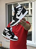 Мужские кроссовки Nike Air Jordan 1 Retro High OG (черно/белые), фото 2