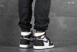 Мужские кроссовки Nike Air Jordan 1 Retro High OG (черно/белые), фото 3