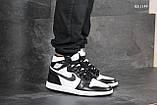 Мужские кроссовки Nike Air Jordan 1 Retro High OG (черно/белые), фото 5
