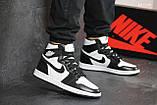 Мужские кроссовки Nike Air Jordan 1 Retro High OG (черно/белые), фото 6