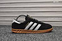 Мужские кроссовки Adidas Hamburg (черно/белые), фото 1