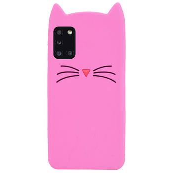 Силиконовая накладка 3D Cat для Samsung Galaxy A31