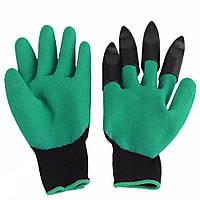 Садовые перчатки с когтями Garden Genie Gloves, Гарден Джени Гловес, перчатки для сада и огорода! Акция