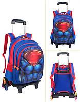 Супер рюкзак тележка в виде Супермен Паук