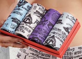 Набор мужских плавок в подарочной коробке с принтами