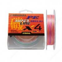 Шнур Kosadaka PE Super Line X4 150M 6,80 KG Multicolor 0,14 mm