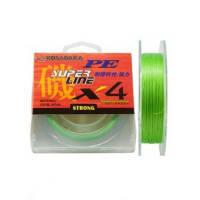 Шнур Kosadaka PE Super Line X4 150M 6,80 KG Fluo Green 0,14 mm