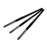 Набор кистей 3шт для китайской росписи NK-01 (черная ручка/широкий ворс)