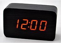 Настольные часы с оранжевой подсветкой VST-863-3